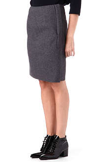 JIL SANDER Side-zip wool skirt