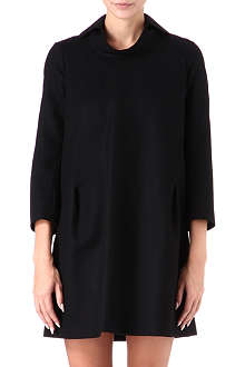 JIL SANDER Collar-detail wool dress