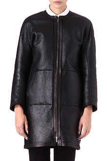 JIL SANDER Reverse-shearling leather coat