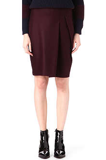 JIL SANDER Pleated wool pencil skirt