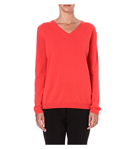 JIL SANDER Cashmere v-neck jumper (Light