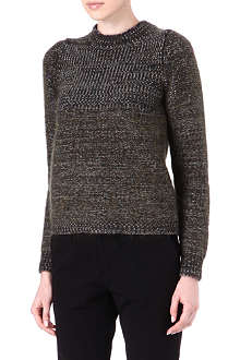 JIL SANDER Cashmere and mohair-blend knitted jumper