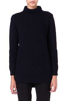 JIL SANDER Roll-neck ribbed jumper