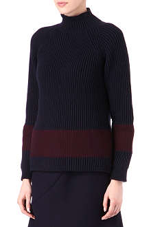 JIL SANDER Ribbed stripe jumper