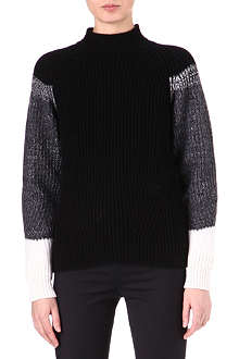 JIL SANDER Colour-block cashmere jumper