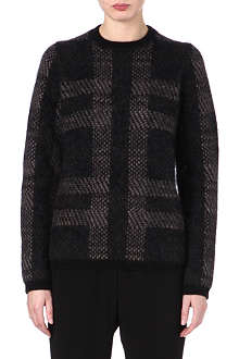 JIL SANDER Plaid wool-blend jumper