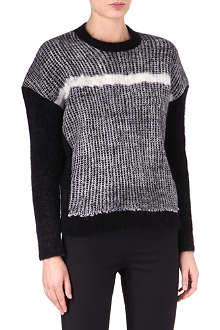 JIL SANDER Colour-block angora-blend jumper