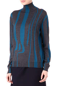 JIL SANDER Turtleneck swirl jumper