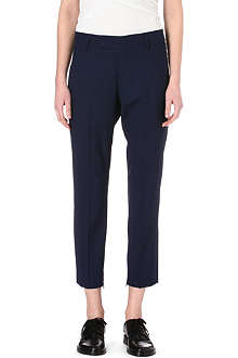JIL SANDER Slim-fit wool and silk-blend trousers