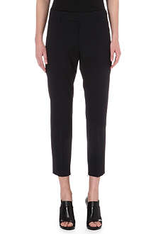 JIL SANDER Cropped wool-blend trousers