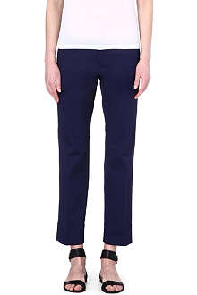 JIL SANDER Slim-fit stretch-cotton trousers