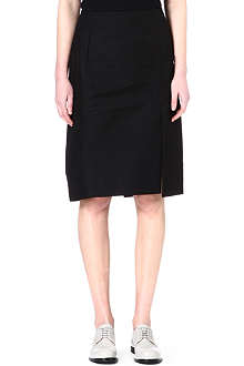 JIL SANDER Split cotton-blend skirt