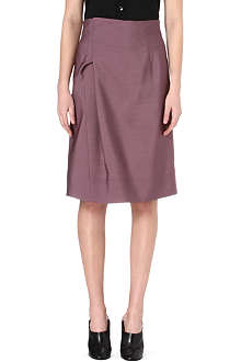 JIL SANDER Royal wool and silk-blend tulip skirt