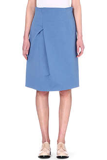 JIL SANDER Pleated high-waisted skirt