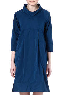JIL SANDER Funnel silk-blend dress