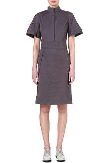 JIL SANDER Structured stretch-cotton dress