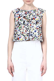 JIL SANDER Printed cotton top