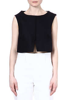 JIL SANDER Cropped cotton top