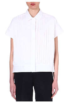 JIL SANDER Pleated cotton shirt
