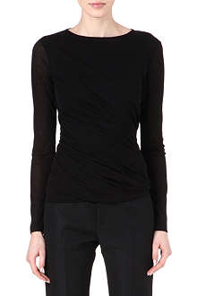 JIL SANDER Ruched jersey top