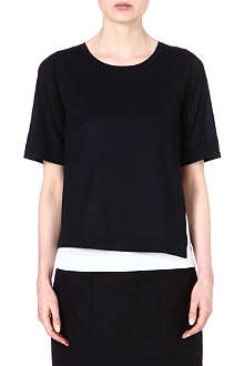 JIL SANDER Two-toned layered top