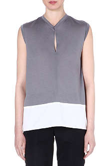 JIL SANDER Sleeveless jersey top