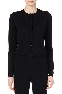 JIL SANDER Knitted silk cardigan