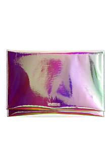 JIL SANDER Metallic folded clutch