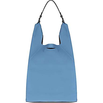 JIL SANDER Soft leather shoulder bag (Blue