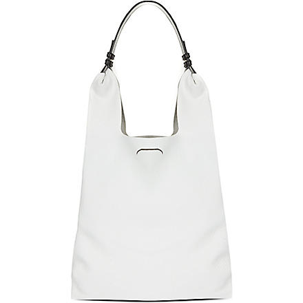 JIL SANDER Soft leather shoulder bag (Open white