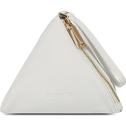 JIL SANDER Prism clutch bag (White