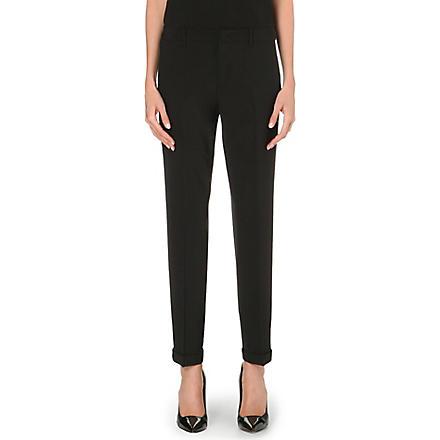 JIL SANDER Pepino stretch-wool trousers (Black