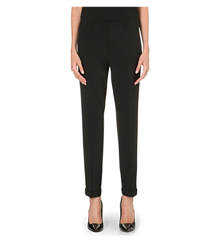 JIL SANDER Pepino stretch-wool trousers (Black