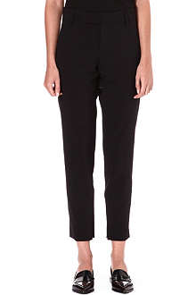 JIL SANDER Pier cropped slim-fit stretch-wool trousers