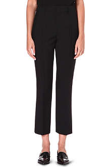 JIL SANDER Spartaco cropped flare wool-blend trousers