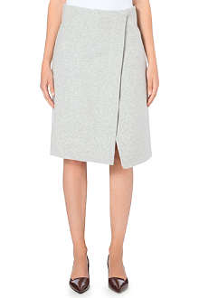 JIL SANDER Split wool skirt