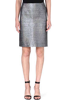 JIL SANDER Salvia metallic pencil skirt