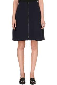 JIL SANDER A-line zip skirt