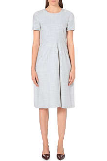 JIL SANDER Pleat-detail stretch-wool dress