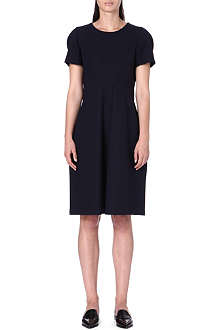 JIL SANDER Short-sleeved cotton-blend dress