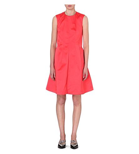 JIL SANDER Panelled satin dress (Light