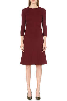 JIL SANDER Ruched-waist stretch-jersey dress