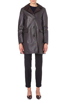 JIL SANDER Reversible leather mac
