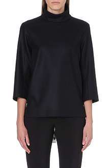 JIL SANDER Turtleneck wool top