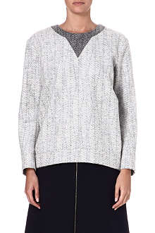 JIL SANDER Textured wool-blend jumper