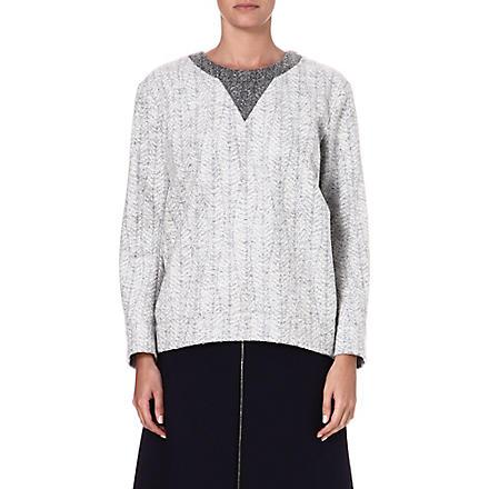 JIL SANDER Textured wool-blend jumper (Grey