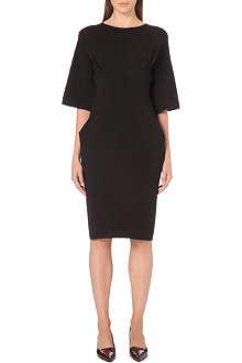 JIL SANDER Boat-neck stretch-wool dress