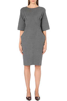 JIL SANDER Boat-neck stretch-wool dress