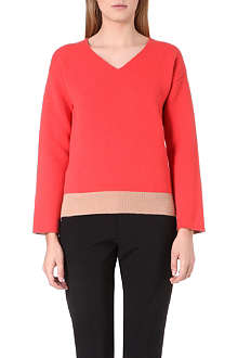 JIL SANDER V-neck stretch-cashmere jumper