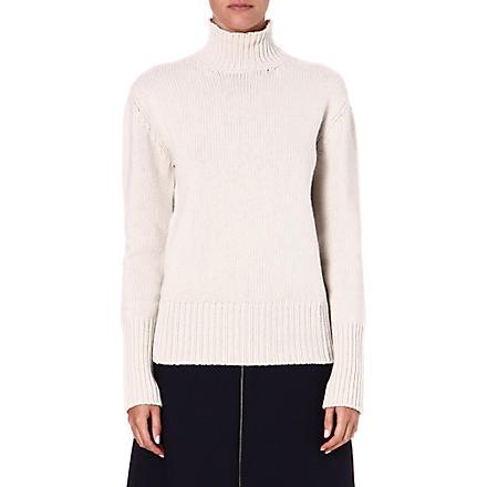 JIL SANDER Cashmere roll-neck jumper (Beige